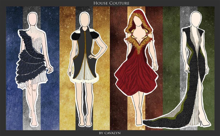 Hogwarts inspired couture dresses for Couture house dresses