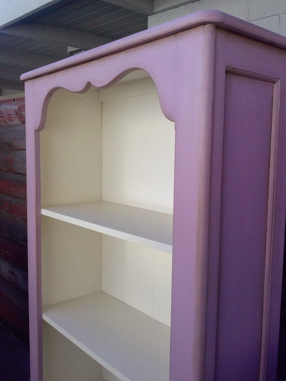Marvelous photograph of Reloved Rubbish: Henrietta Chalk Paint® Bookcase with #4C355B color and 1200x1600 pixels
