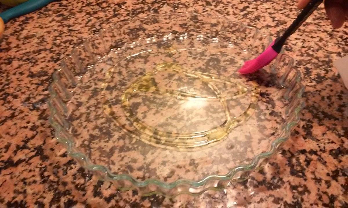 untamos la bandeja de cristal