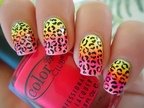 Nice Cheetah Nail Art - Nice Cheetah Nail Art Nail Art Ideas 101