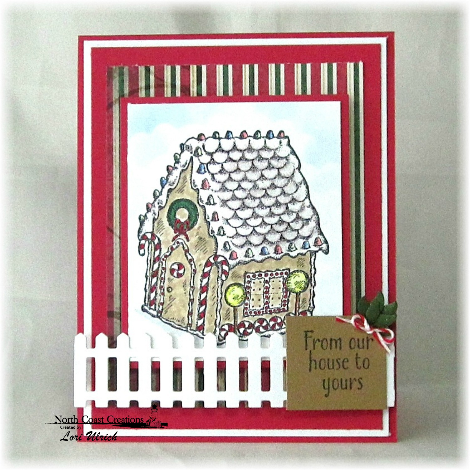 Stamps - North Coast Creations Sweet Christmas Wishes, ODBD Christmas Paper Collection 2013, ODBD Fence Custom Die, ODBD Custom Fancy Foliage Die