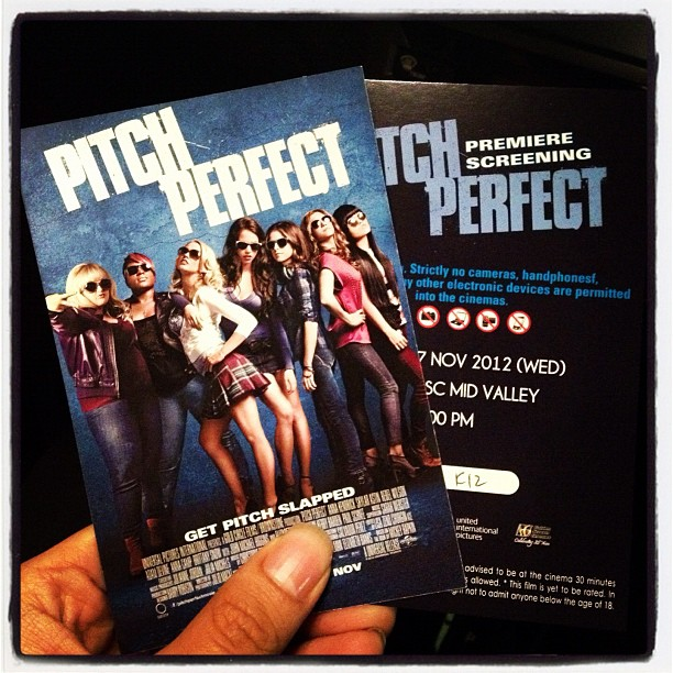 My screening tickets for Pitch Perfect