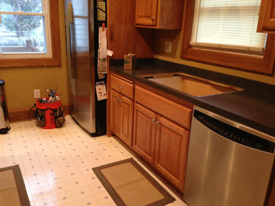 Client Project Kitchen Remodel Progress Through The