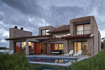 contemporary architecture - stucco brick