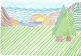 Dibujos con lneas  Trama de lineas  SALVADOR MINGUIJN 3 PRIMARIA