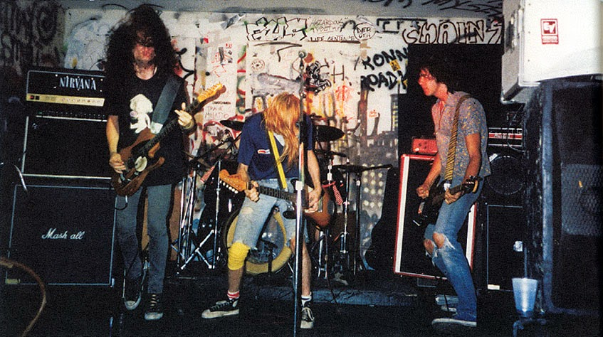 Nirvana Kurt Cobain Krist Novoselic Jason Everman Chad Channing 1989 live Seattle Grunge