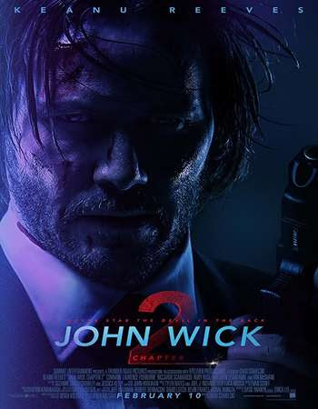 Poster Of John Wick: Chapter 2 2017 Full Movie In Hindi Dubbed Download HD 100MB English Movie For Mobiles 3gp Mp4 HEVC Watch Online