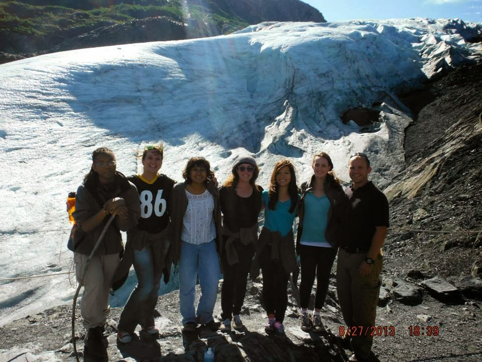 Green 2 visits a Glacier