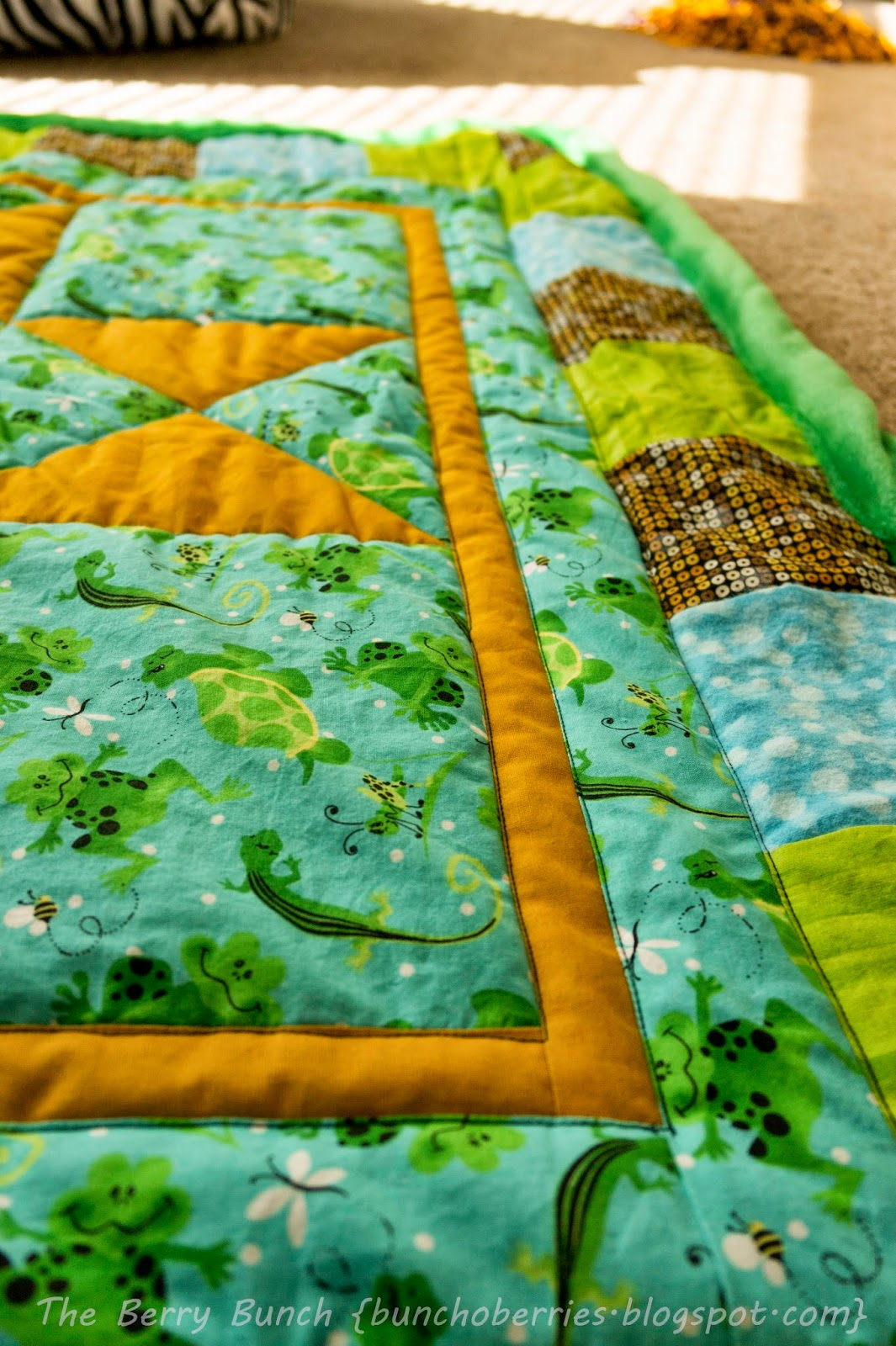 The Berry Bunch: A Baby Quilt: A Gift for a Childhood Friend {Storybook Quilt}