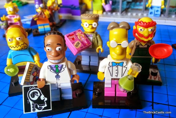 The Simpsons LEGO Minifigures Series 2 Comic Book Guy Smithers Frink Willie
