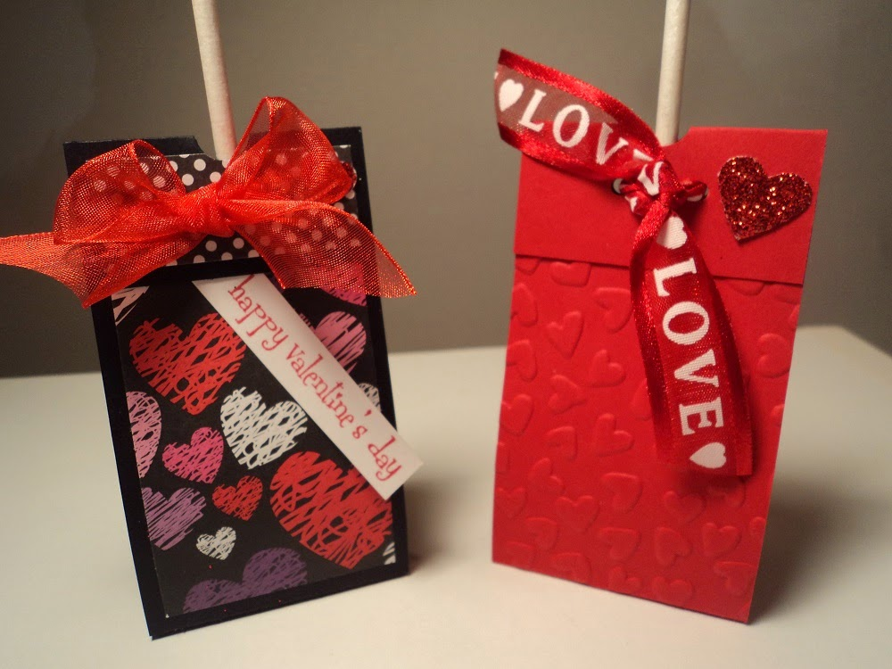 Card corner by candee flap over tootsie pop holder
