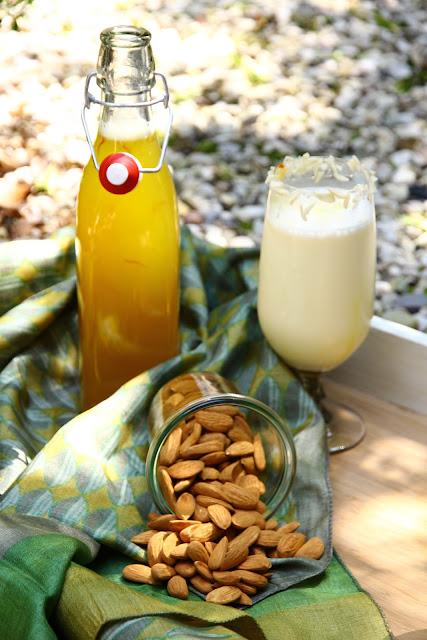 almond saffron drink/badam kesar ka sharbat