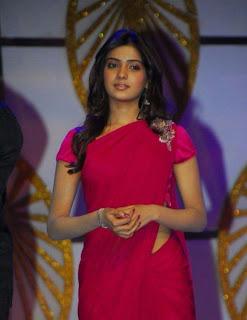 Samantha Spotted in a Maroon saree Beautiful Hairstyle Slim Figure
