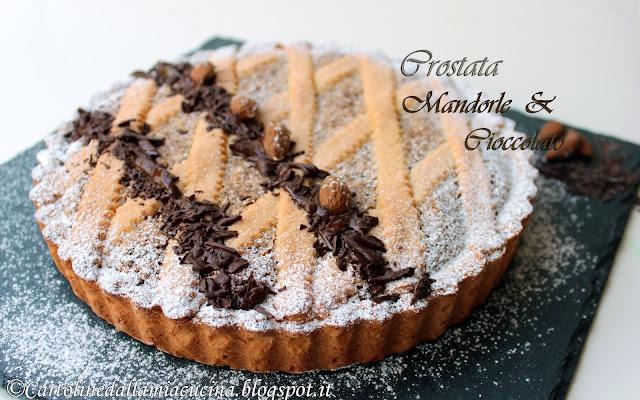 Ricetta crostata mandorle e cioccolato