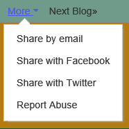 "The Blogger ""More"" menu"