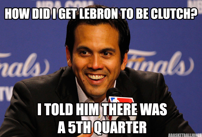 Miami Heat vs San Antonio Spurs - The Finals LeBron-James-4th-quarter-meme
