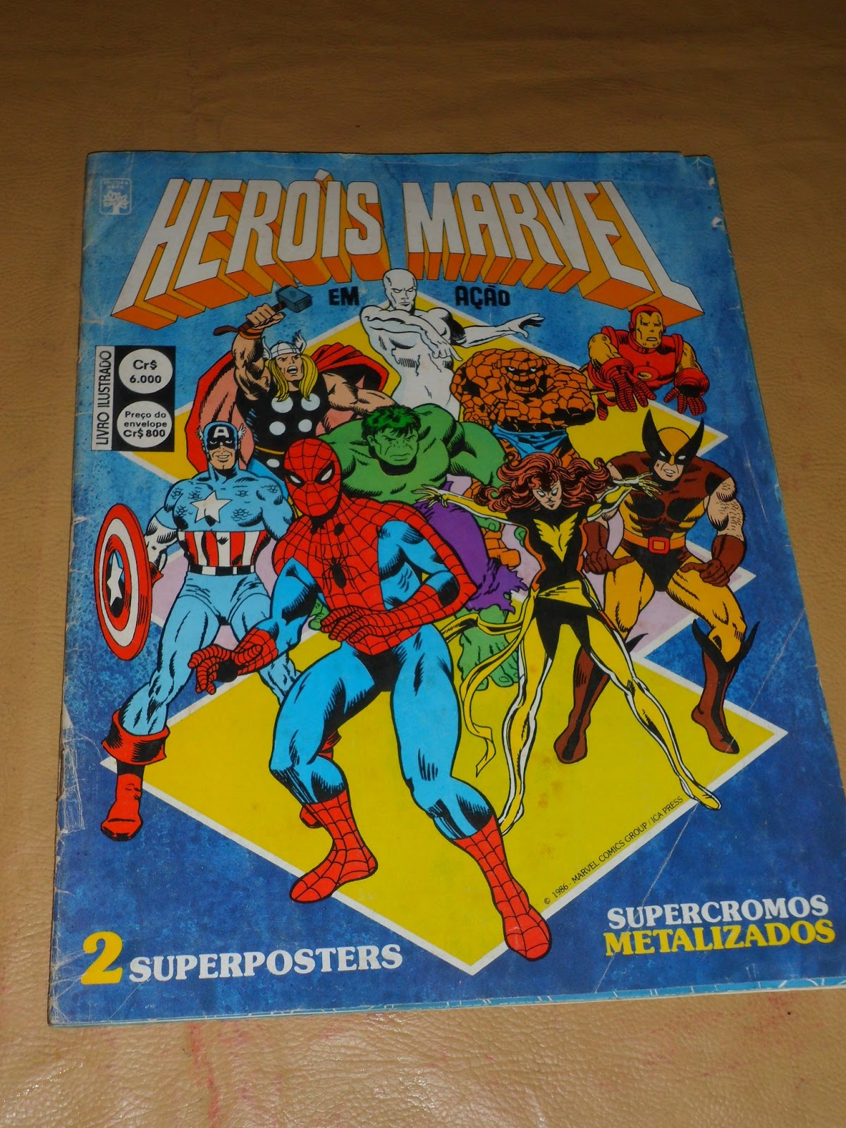 Álbum de figuritas héroes marvel en acción 1986 editorial abril