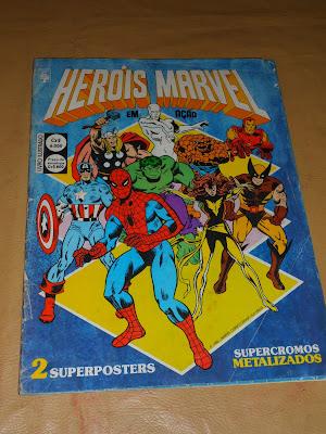 """De figuritas """"héroes marvel en acción"""" 1986 editorial abril"""