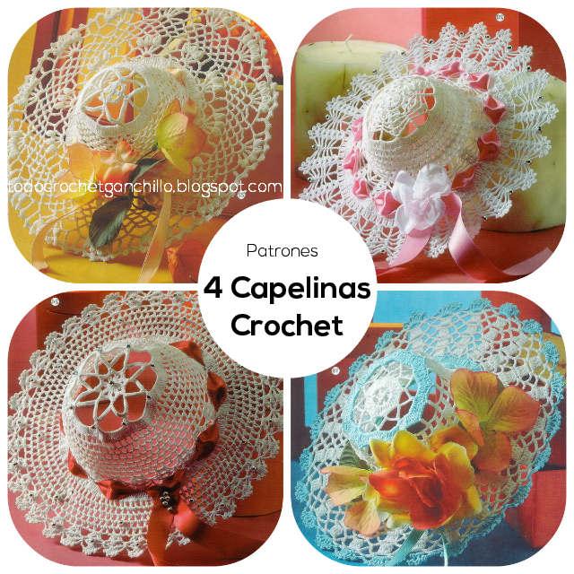 4 patrones de capelinas crochet con paso a paso