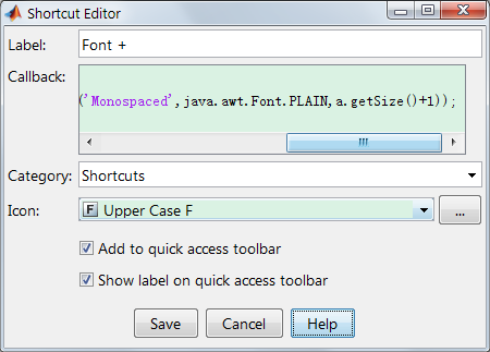 Tune font in Matlab with shortcut | David Leon's backyard
