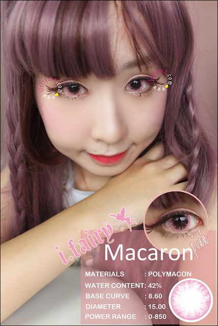 I.Fairy Macaron Pink lens review