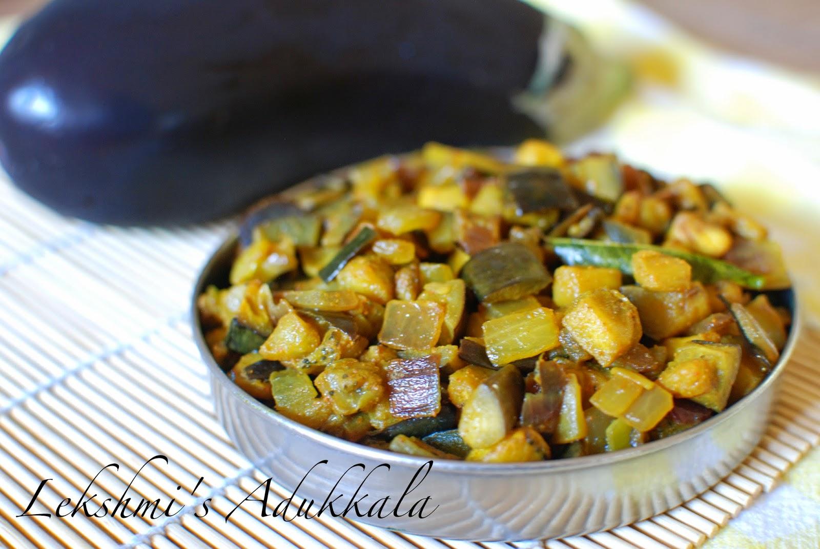 Lekshmi's Adukkala: Vazhuthananga Mezhukkupuratti / Brinjal Stir Fry