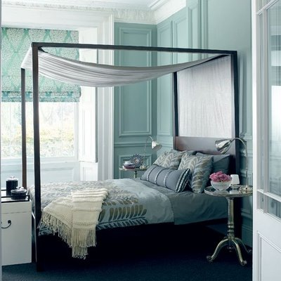 Modern Home Interior Design: Black And White And Blue Bedroom That is Great! - Black White And Blue Bedroom
