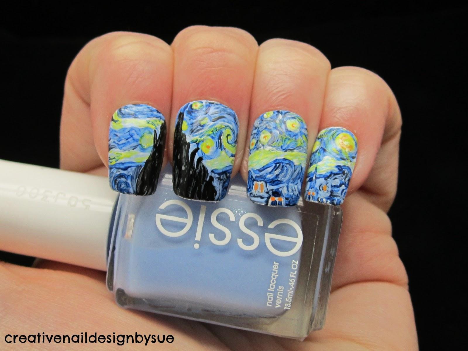 Creative Nail Design By Sue Digit Al Dozen Does Art Starry Night