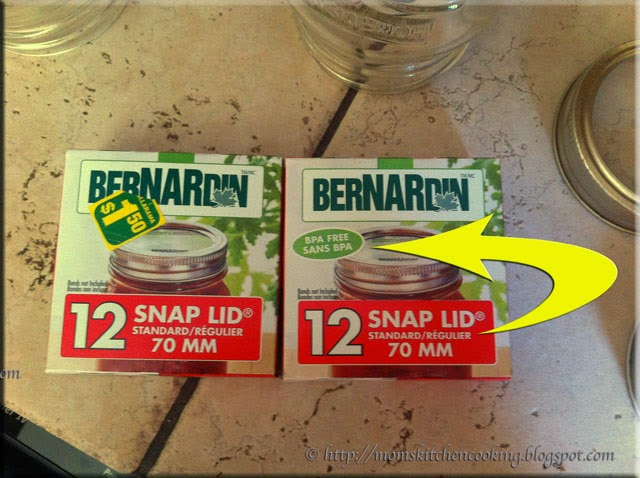 Bernardin BPA-free canning lids