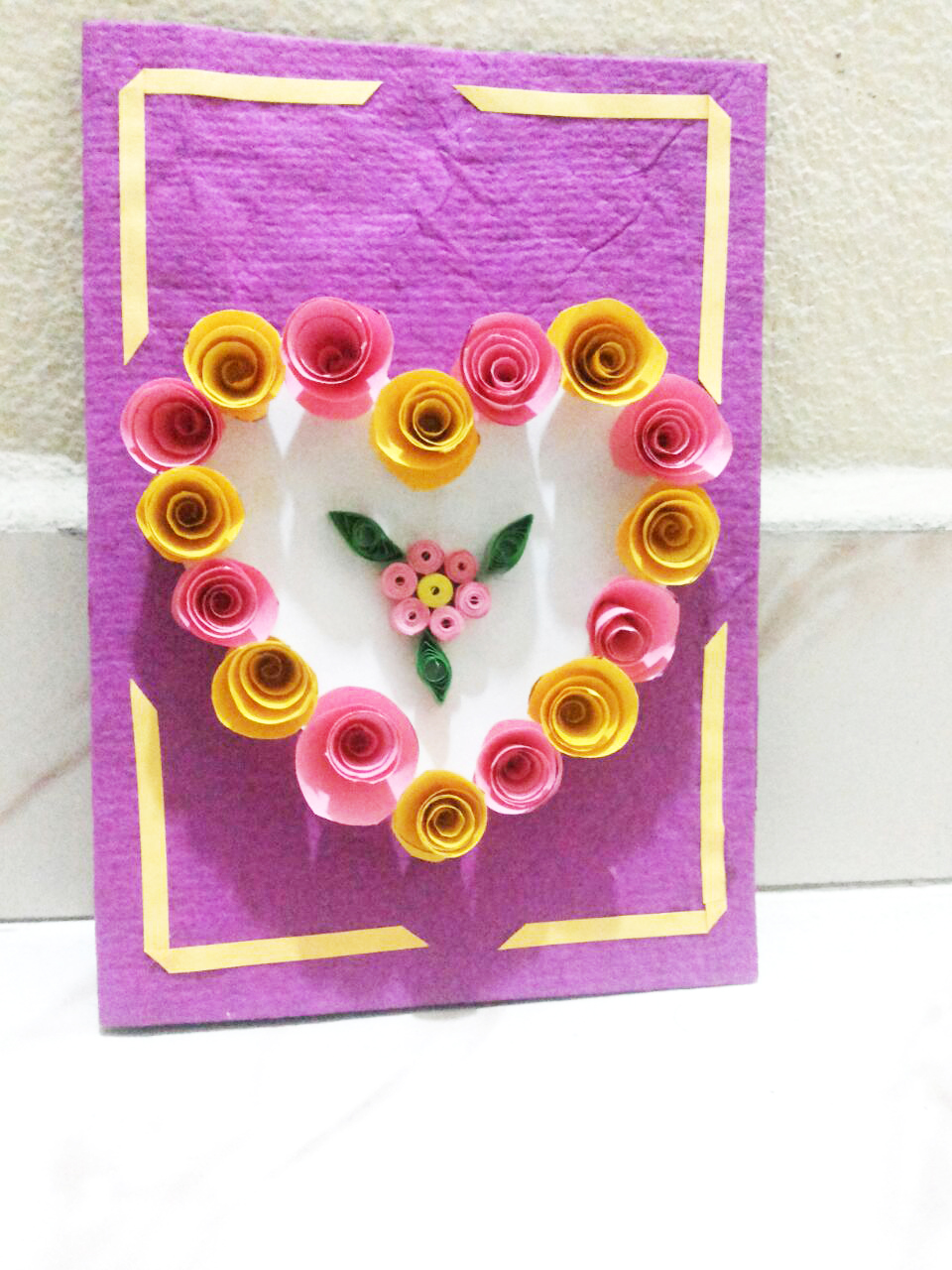 Hand Made Quilled Heart Greeting Card By Syamala Sy004 Make Ur