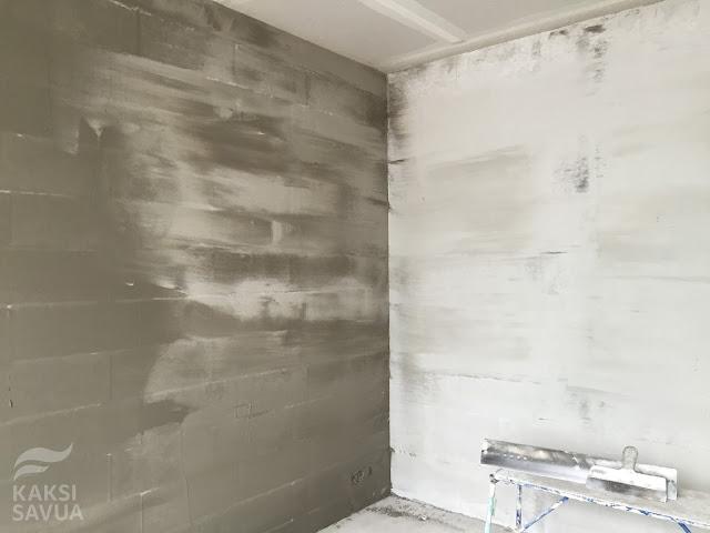 Kaksi savua: seinien tasoitus