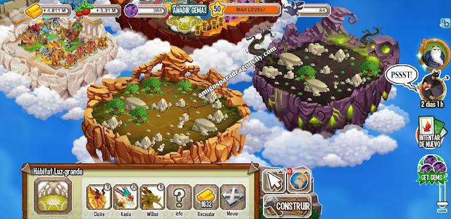 imagen de las nuevas islas de dragon city