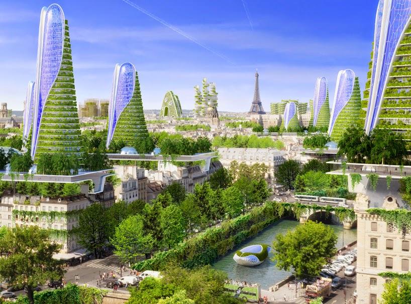 Proyecto Futurista para Paris, Ciudades Inteligentes, Edificios Verdes