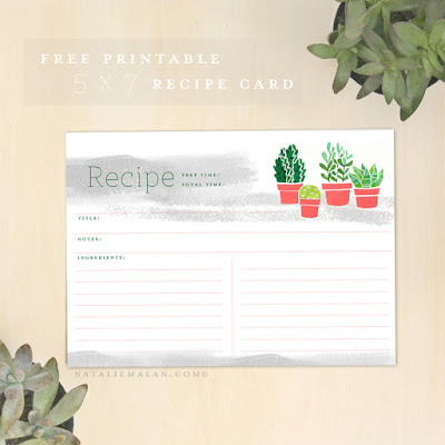 5x7 recipe card template for word - see jane scrapbook free printable succulent recipe cards
