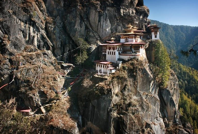 The fairy tale Tiger's Nest in Bhutan