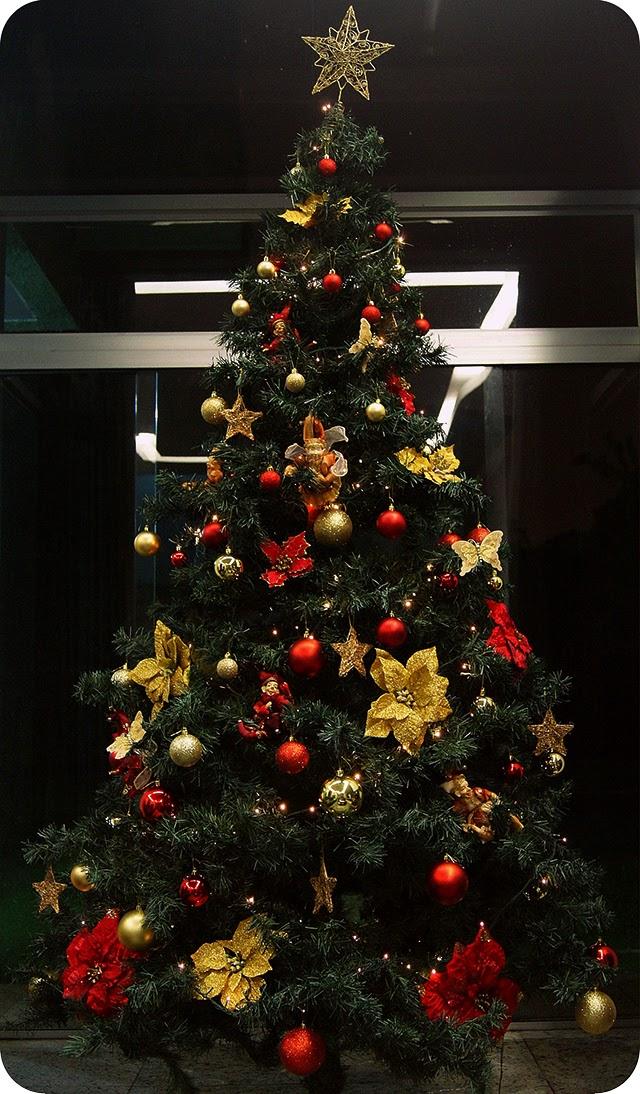 decoracao arvore de natal vermelha e dourada : decoracao arvore de natal vermelha e dourada:Decoração Natalina Árvore de Natal Vermelha Dourada