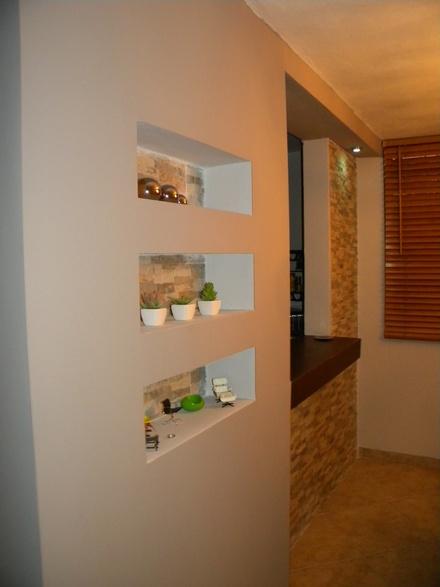 Galer a de im genes techos de dry wall techo raso for Plafones para pared interior
