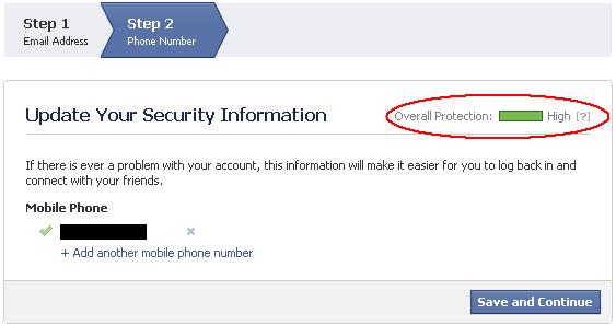 how to add phone number to facebook