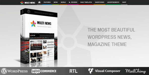 Multi news wordpress theme