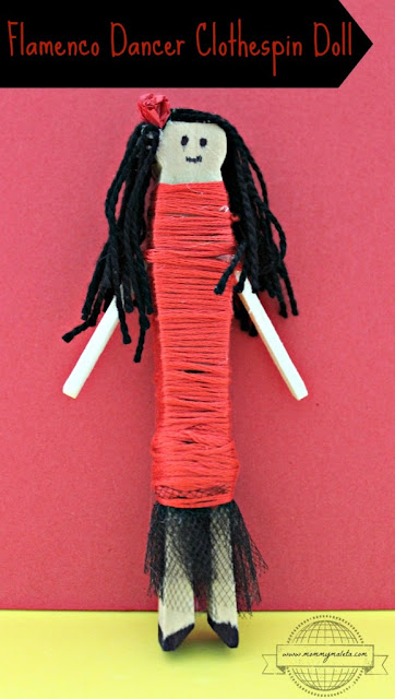 http://mommymaleta.com/crafts/flamenco-dancer-clothespin-doll/
