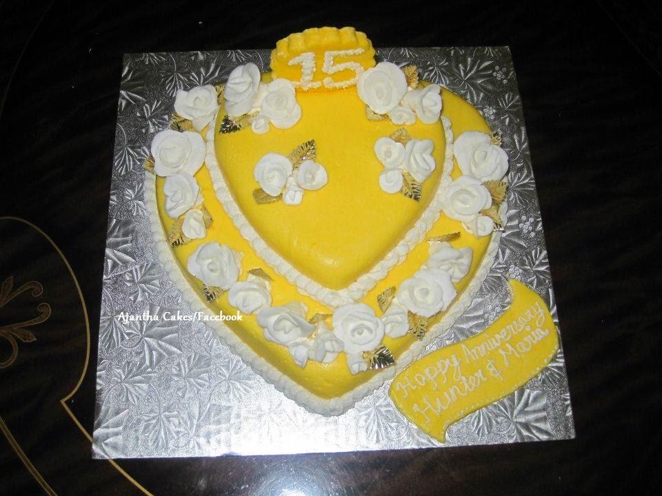 Ajantha Cakes/Anniversary Cake/15th Wedding Anniversary Cake