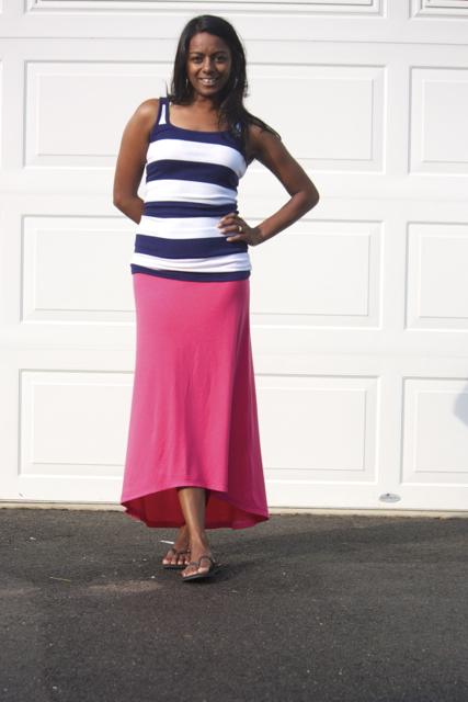 zaaberry high low maxi skirt tutorial