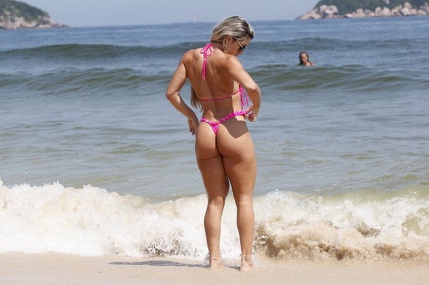 Brazilian bikini girls on beach