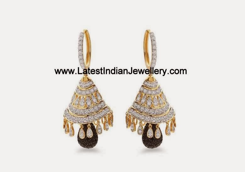 Fancy Diamond Jhumkis