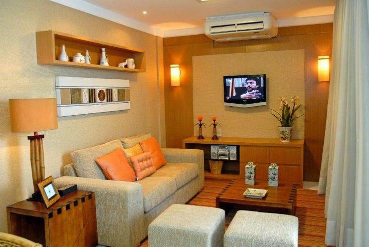 Sala De Estar Pequena E Linda ~   Decoração  Reciclados Salas Lindas, Pequenas e bem Decoradas