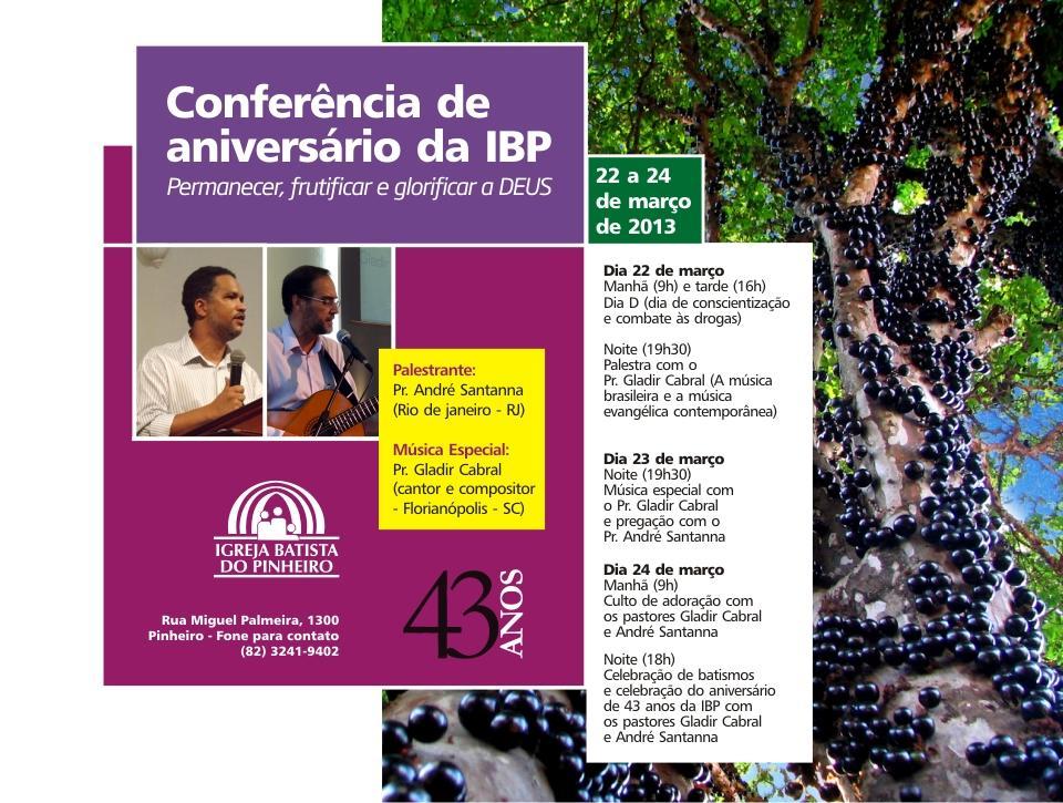 Conferência Igreja Batista do Pinheiro