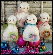 Snowman dolls pattern