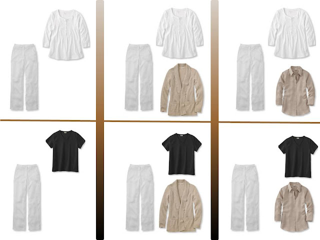 """six outfits with white pants and """"Whatever's Clean"""" for summer"""