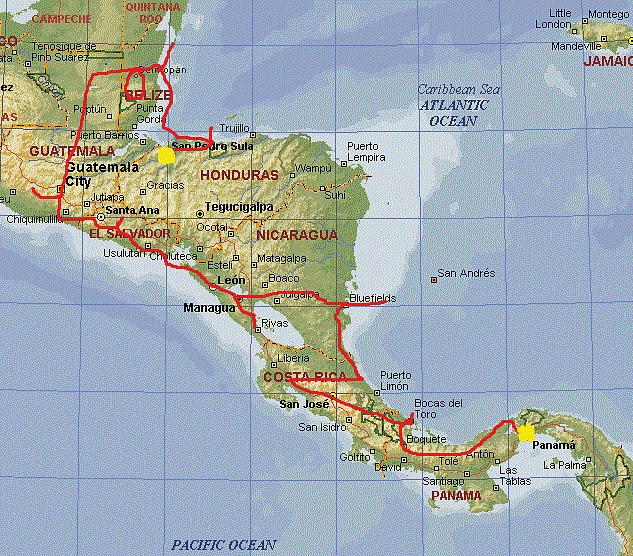 backpack-central-america-map-route