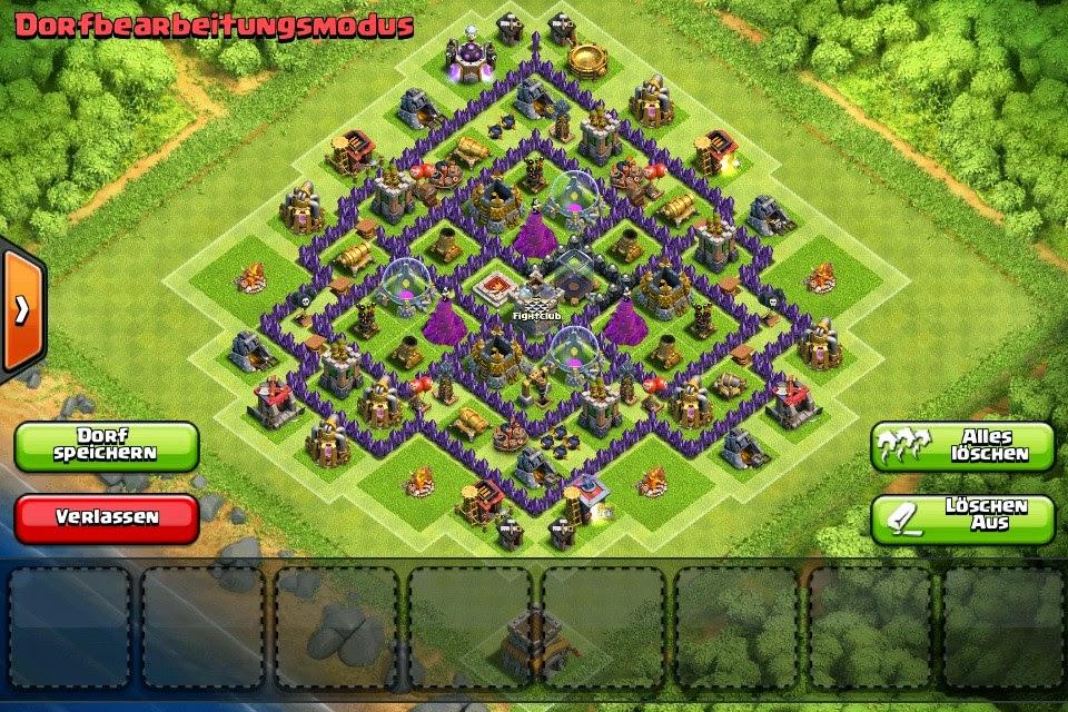 Clash of clan strategy th8 4 mortar farming base design golden